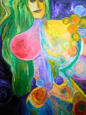 Painting - Divine Feminine by Kat Kemm
