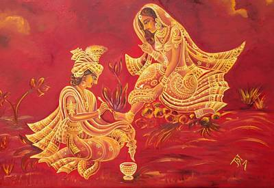 Radha Krishna Love Paintings (Page #2 of 6)   Fine Art America