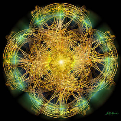 Abstract Movement Digital Art - Divine Meditation by Michael Durst