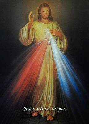 Hope Photograph - Divine Mercy Jesus by Anna Baker