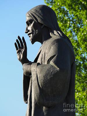 Divine Mercy Statue Art Print