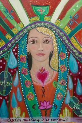 Shiloh Sophia Art Painting - Divine Spark Of Creativity by Havi Mandell