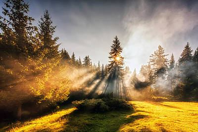 Rhodope Mountains Photograph - Divine Sunbeams by Evgeni Dinev