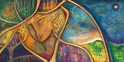 Holy Mother Painting - Divine Wisdom by Shiloh Sophia McCloud