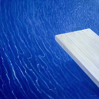 Deep Blue Painting - Diving Board 2004 by Lincoln Seligman