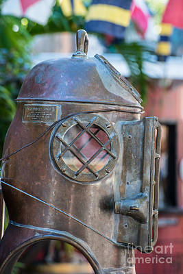 Diving Helmet Photograph - Diving Helmet Key West by Ian Monk