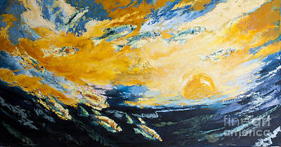 Dave Hancock Painting - Diving With The Sunset by Dave Hancock