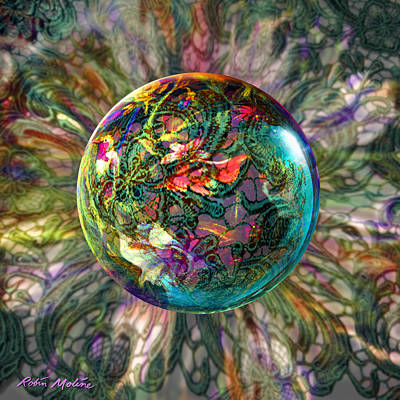 Old-fashioned Digital Art - Divining Lace by Robin Moline