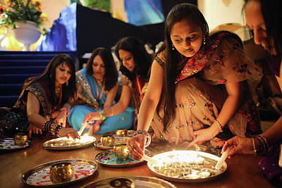 Photograph - Diwali And Annakut Are Celebrated At by Dan Kitwood