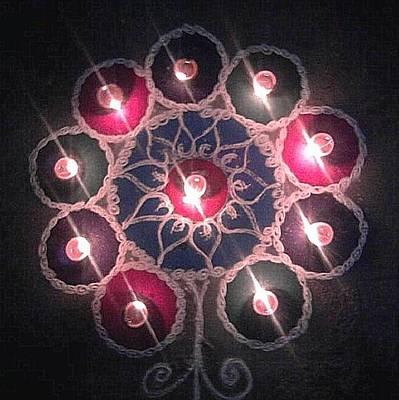 Rangoli Photograph - Diwali Celebrations - Clay Lamps And Rangoli by Mannoj Umale