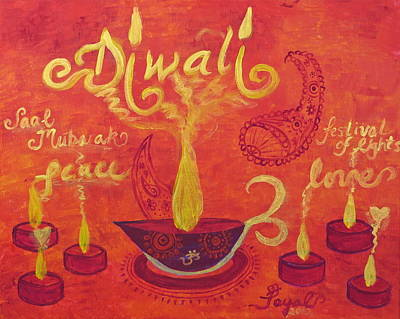 Painting - Diwali Lights by Artistic Indian Nurse