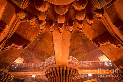 Photograph - Diwan-i-khas Ceiling by Inge Johnsson