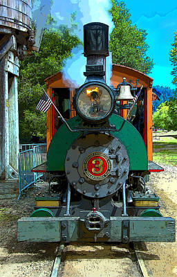 Photograph - Dixiana Engine 5  by Richard J Cassato