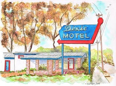 Dixie Painting - Dixie Motel In Hilliard - Florida by Carlos G Groppa