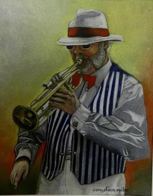 Dixie Music Man Art Print by Sandra Sengstock-Miller