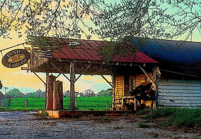 Art Print featuring the photograph Dixie Oil And Gasoline by Rodney Lee Williams