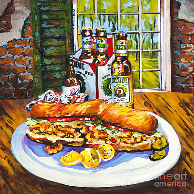 Dixie Beer Painting - Dixie Po'boy by Dianne Parks
