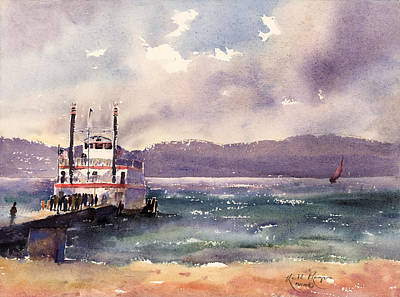 Dixie Painting - Dixie Zephyr Cove South Lake Tahoe by Keith Thompson