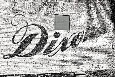 Dixon's Wall Sign Art Print by Andy Crawford
