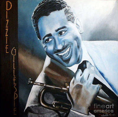 Painting - Dizzie Gillespie by Chelle Brantley