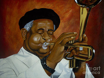 Painting - Dizzie Gillespie In Color by Chelle Brantley