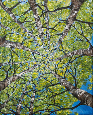 Painting - Dizzy Aspens by Melinda Cummings