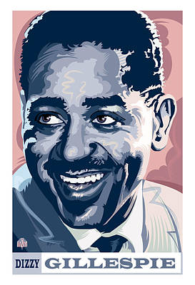 Jazz Royalty-Free and Rights-Managed Images - Dizzy Gillespie Portrait by Garth Glazier