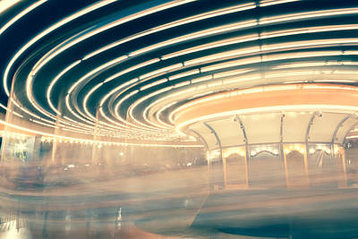 Carousel Photograph - Dizzy Lights by Elyssa Drivas