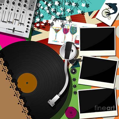 Dj Party Design Art Print