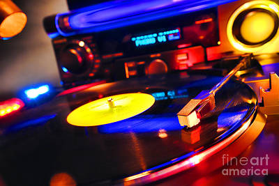 Spinning Photograph - Dj 's Delight by Olivier Le Queinec
