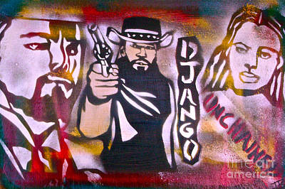 Justice Painting - Django Blood Red by Tony B Conscious