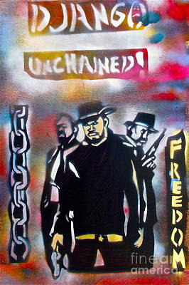 Justice Painting - Django Freedom by Tony B Conscious
