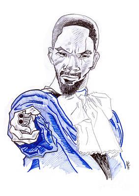 Vengeance Drawing - Django by Leon Bale