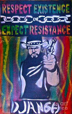 First Amendment Painting - Django Rasta Resistance by Tony B Conscious