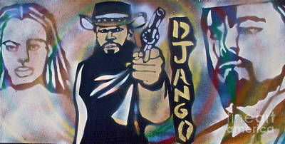 Justice Painting - Django Three Faces by Tony B Conscious