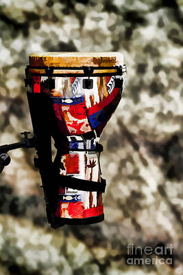 Painting - Djembe Or Djambe Africa Culture Drum Painting 3243.02 by M K Miller
