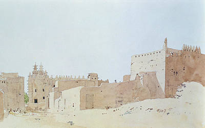 Mosque Photograph - Djenne Mali Grande Mosquee, Monday, 2000 Wc On Paper by Charlie Millar