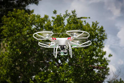 Dji Phantom 2 Drone With Go Pro Hero 3 Art Print by Rich Franco