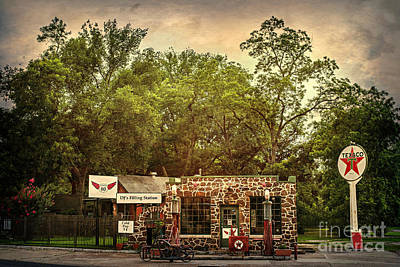 Photograph - Dj's Filling Station by Tamyra Ayles