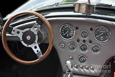 Dn-cobra Oldtimer Steering Wheel Art Print by Heiko Koehrer-Wagner