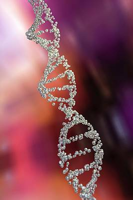 Dna Molecule Art Print by Kateryna Kon