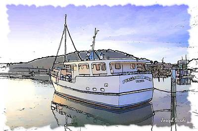 Digital Art - Do-00113 Boat Furneaux by Digital Oil
