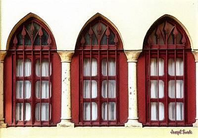 Photograph - Do-00368 The 3 Windows Downtown by Digital Oil