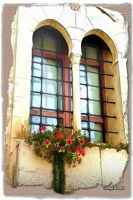 Photograph - Do-00375 Deir El-kamar Windows And Flowers by Digital Oil