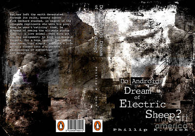 Electric Sheep Digital Art - Do Androids Dream Of Electric Sheep Book Cover by Ironheart Illustrations