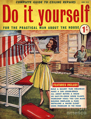 Drawing - Do It Yourself 1959 1950s Uk Magazines by The Advertising Archives
