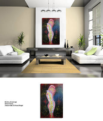 Love Making Painting - Do Love Do Not Rape by Prabhootty Parambath