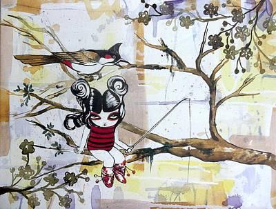 Bir Painting - Do Not Disturb. Im  Fishing. by Cris Pires