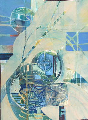 Curvilinear Painting - Do Not Leave Important Words Unsaid by Patricia Mayhew Hamm