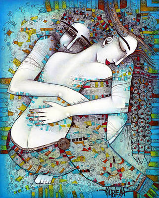 Couples Painting - Do Not Leave Me by Albena Vatcheva
